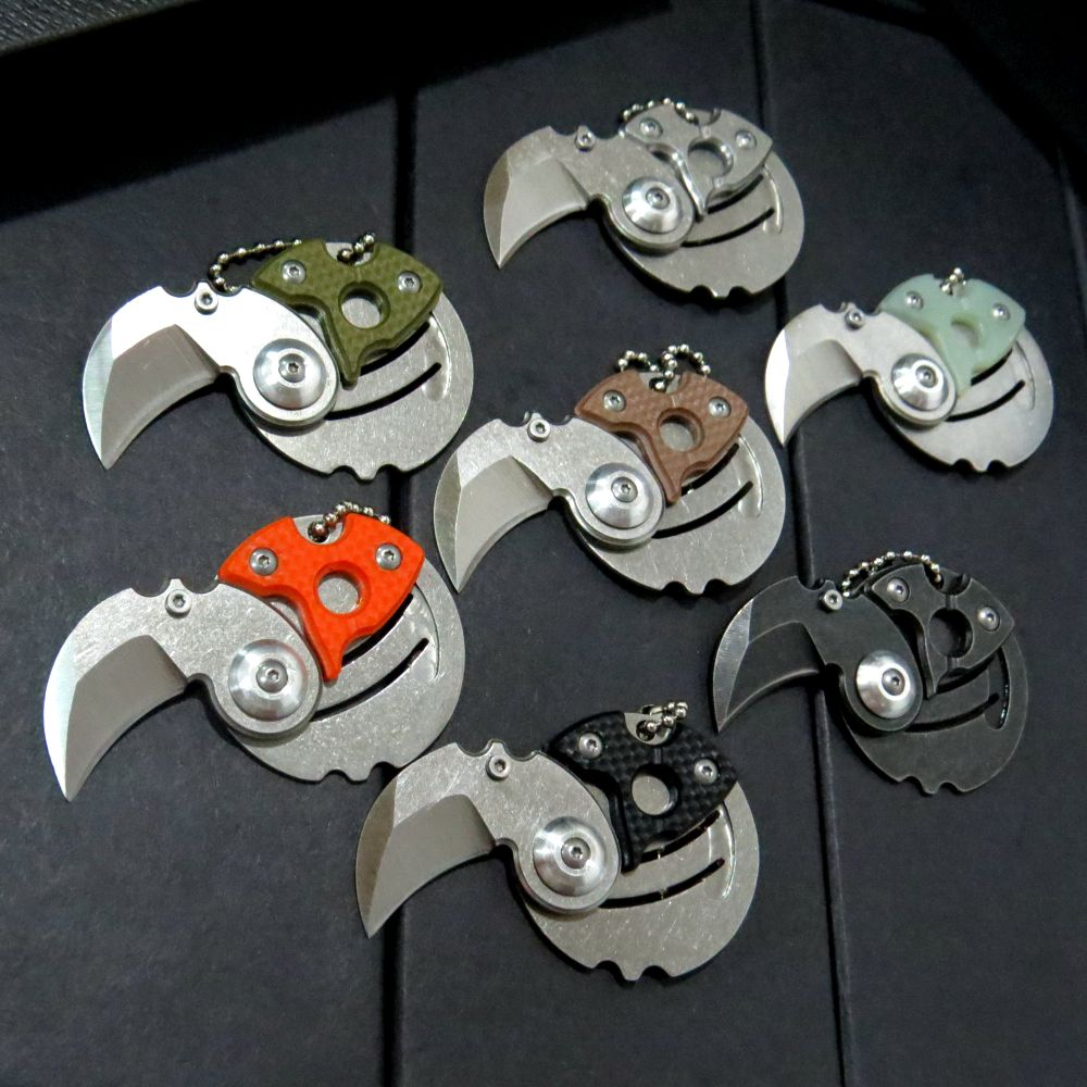 Newest Coin folding font b knife b font 9Cr18MoV blade G10 or steel handle outdoor Survival