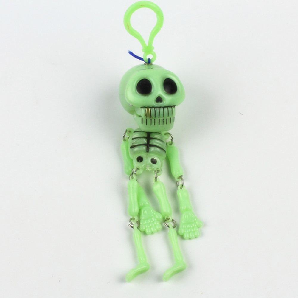 Hot Sale Novelty Glow In The Dark Moving Poseable Skeleton Halloween Favors Party Decor Carnival Toys Noctilucent Toys