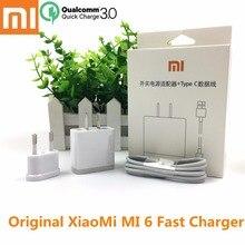 Original xiaomi mi 5 charger QC 3.0 fast quick charge USB wall mi 6 Type C data cable For xiaomi6 xiaomi max 2 max2 mi 6 5 5s