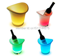 Free Shipping Color changeable Quadrange Seau Champagne Bucket LED,LED ice bucket bars Cooler 24Keys remote controller + Adapter color changeable led drink illuminated sphere flower pot waterproof led light ellipse champagne bucket cooler planter