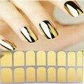 Профессиональный гладкий ногтей красоты патч пленки обертывания наклейка черный серебро золото на ногти