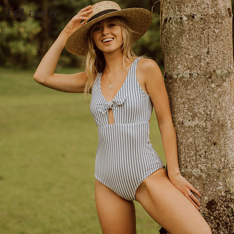 2018 Sexy One Piece Swimsuit Women Swimwear Push Up Monokini Hollow Out Swim Suit Female Bathing Suit Summer Beach Wear