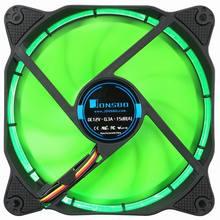 Цельнокроеное платье JONSBO солнечное затмение 120 мм 4-Булавки корпус cooler Процессор led вентилятор охлаждения компьютеров вентилятор радиатора с ШИМ для Intel AMD DIY mod