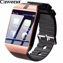 Продажа Cawono золото DZ09 Bluetooth Smart часы с Камера Телефонный звонок Smartwatch для iPhone Xiaomi samsung смартфоны HUAWEI PK A1 GT08