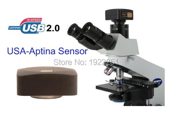 Best 5 1Mp USB2 0microscope digital camera Digital eyepiece camera support windowsXP Vista W7 W8 MAC