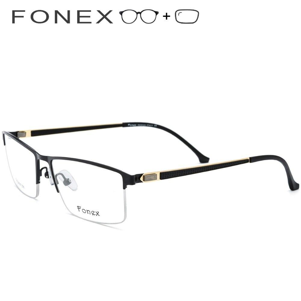 Titan Platz Männer Halb Legierung Myopie Ultraleicht Marke Designer Brillen Gläser 2019 Eyewear Rahmen Optische Männlichen w8wqTrax