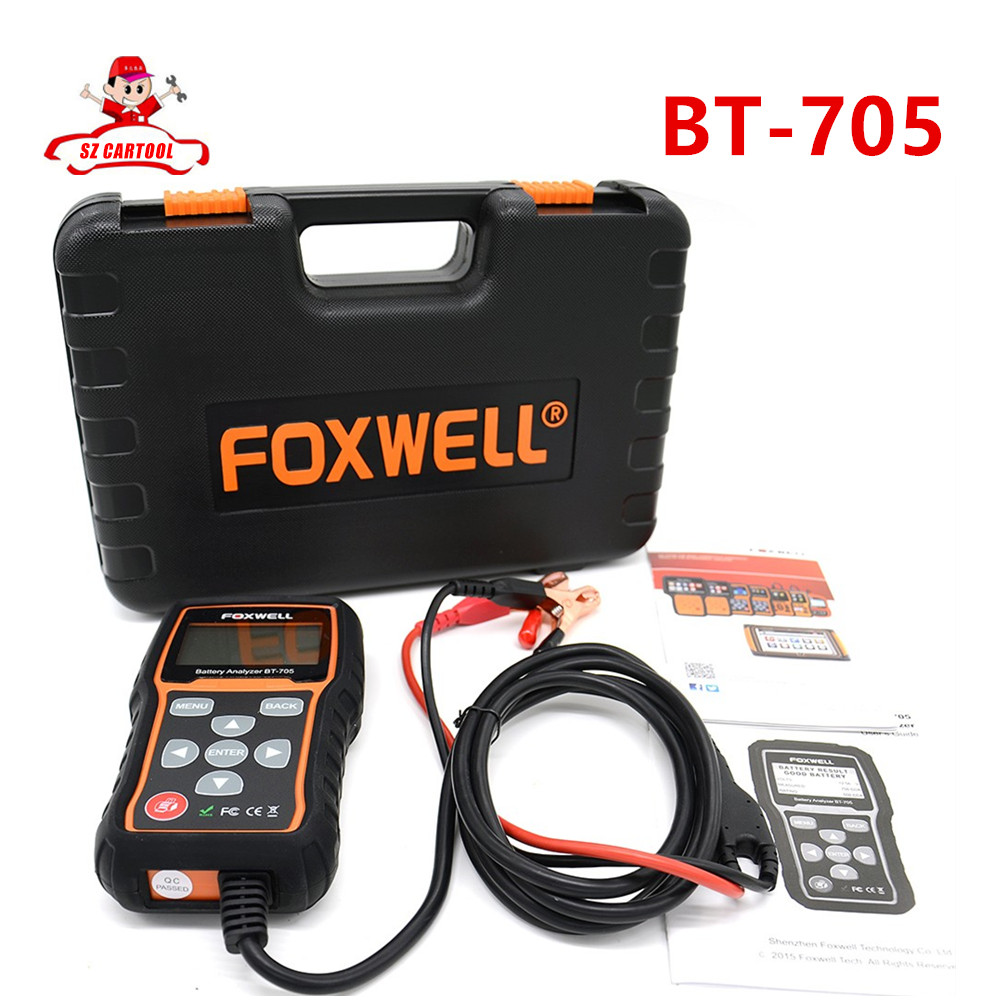 Foxwell BT 705 BT705 BT-705 12 Volt Battery Analyzer Tester Directly Detect Bad Car Cell Battery