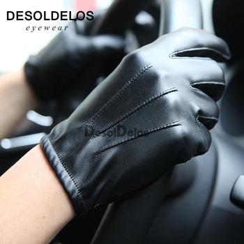 2019 Hot Guantes Tactil rękawiczki kobiety ekran dotykowy rękawiczki męskie skórzane rękawiczki jesień zima pełna palca dla obu płci luvas tanie i dobre opinie Kaszmirowy Mikrofibra Skóra syntetyczna Poliester Dla dorosłych Unisex Moda Nadgarstek Stałe DD-R001 Gloves Mittens