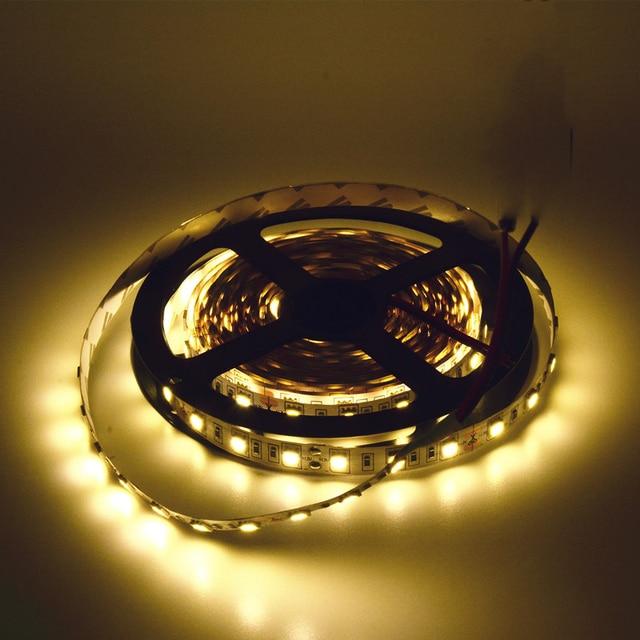LED strip 5050 12V flexible light  5m/lot 60led/m RGB White Warm white Cold white Blue Red Yellow Free shipping