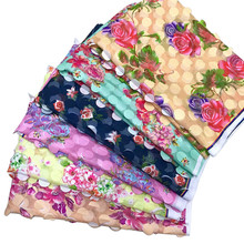 Shidao African Tulle Chiffon Flower Lace Fabric Nigeria 2019 French Free Shipping For Woman Clothes