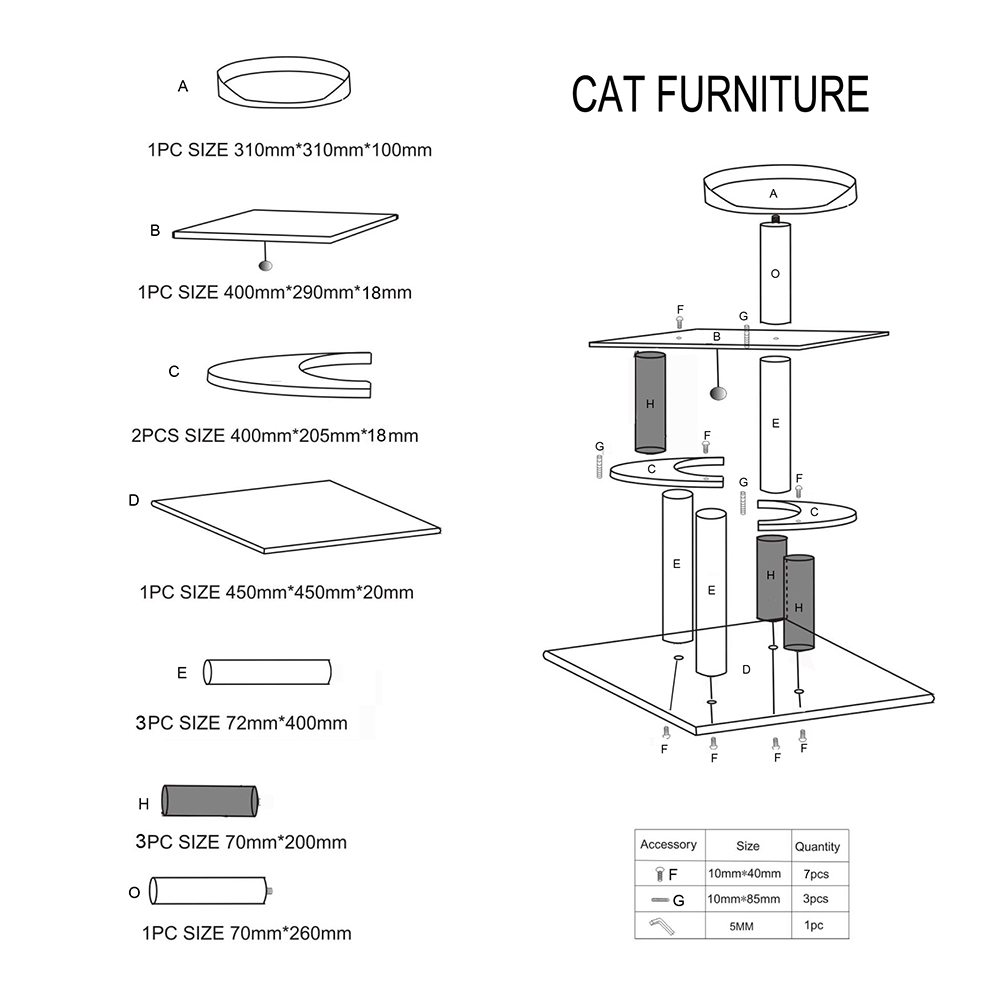 CAT TREE HOUSE SCRATCHER