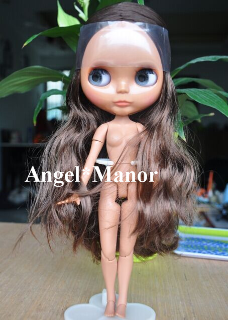 blyth doll with jointed body, brown long hair,dark skin ,Valentine's day present,GHT011
