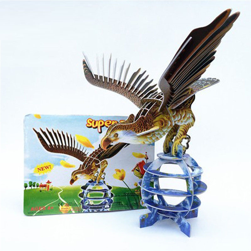Starz DIY 3D Paper Animal Eagle Puzzles Toys Static Model Craft Building Kits Gifts for Kids
