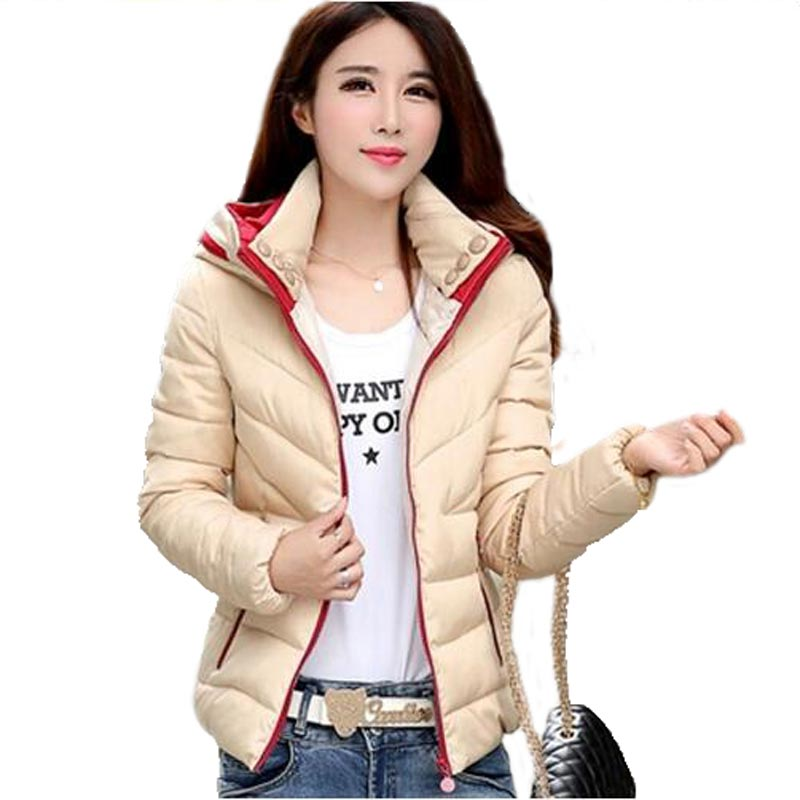 Wadded Jacket Female 2016 Fashion Casual Winter Jacket Women Short Hooded Slim Down Cotton Coat Plus Size M-3XL PW0041 wadded jacket female short winter coat women slim thin coat removable hooded cotton female parka casual jackets plus size c1118