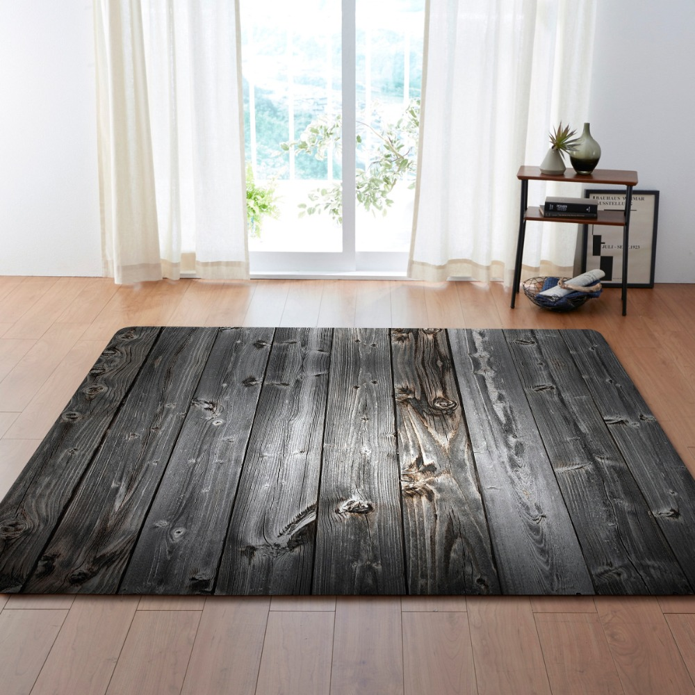 Us 30 32 29 Off Creative Bricks Wooden Jacquard Sofa Chair Floor Mats Striped Doormat Carpets Fit Living Room Area Rugs Kitchem Bedroom In