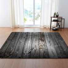 Creative Bricks Wooden Jacquard Sofa Chair Floor Mats Striped Doormat Carpets fit living room Area Rugs Kitchem Bedroom