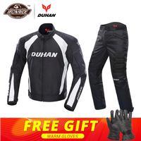 DUHAN Motorcycle Jacket Men Protective Gear Moto Jacket Motorcycle Pants Windproof Cold proof Touring Motorbike Riding Suit