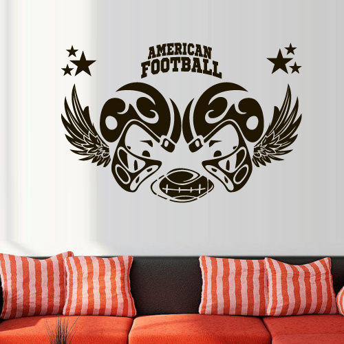 Wall Decal American Football Rugby Sport Helmet Play Man Ball rugby kids