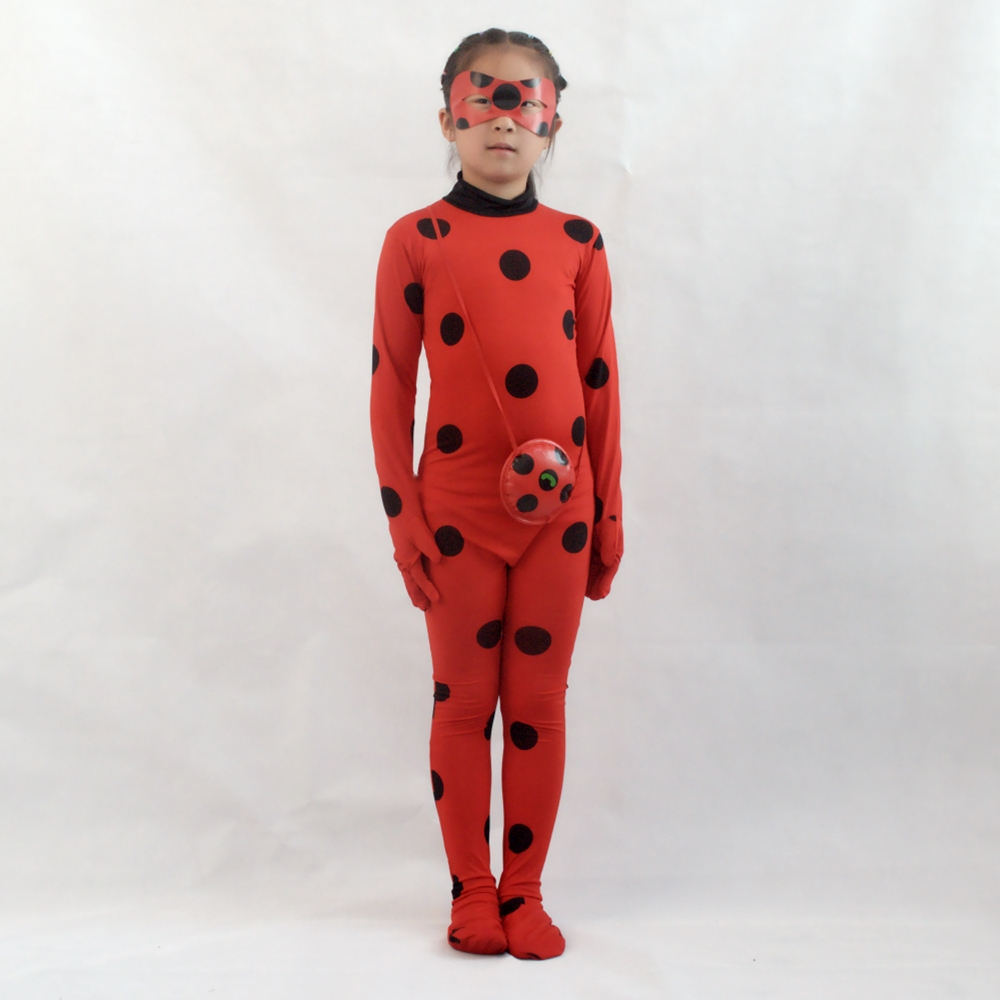 Cosplay Miraculous Ladybug costume Girl Halloween costume Holiday clothing Party clothing  Lady ladybug plays a costume  disfraz