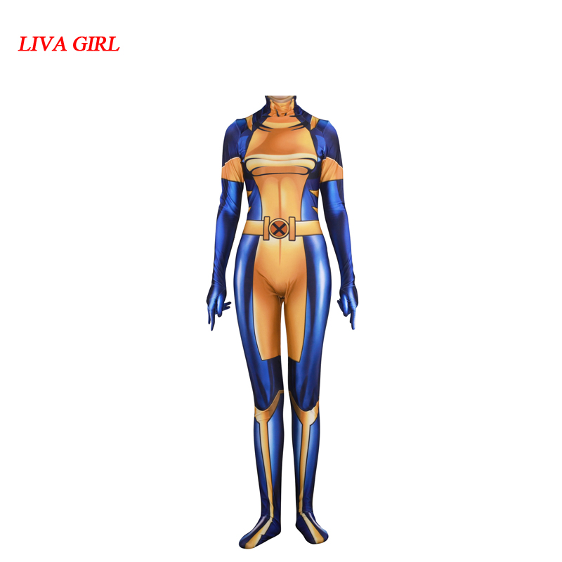 Movie X-Men X-23 Wolverine Cosplay Costumes Laura Kinney Women 3D Printing lycra Spandex Zentai Bodysuit Jumpsuits