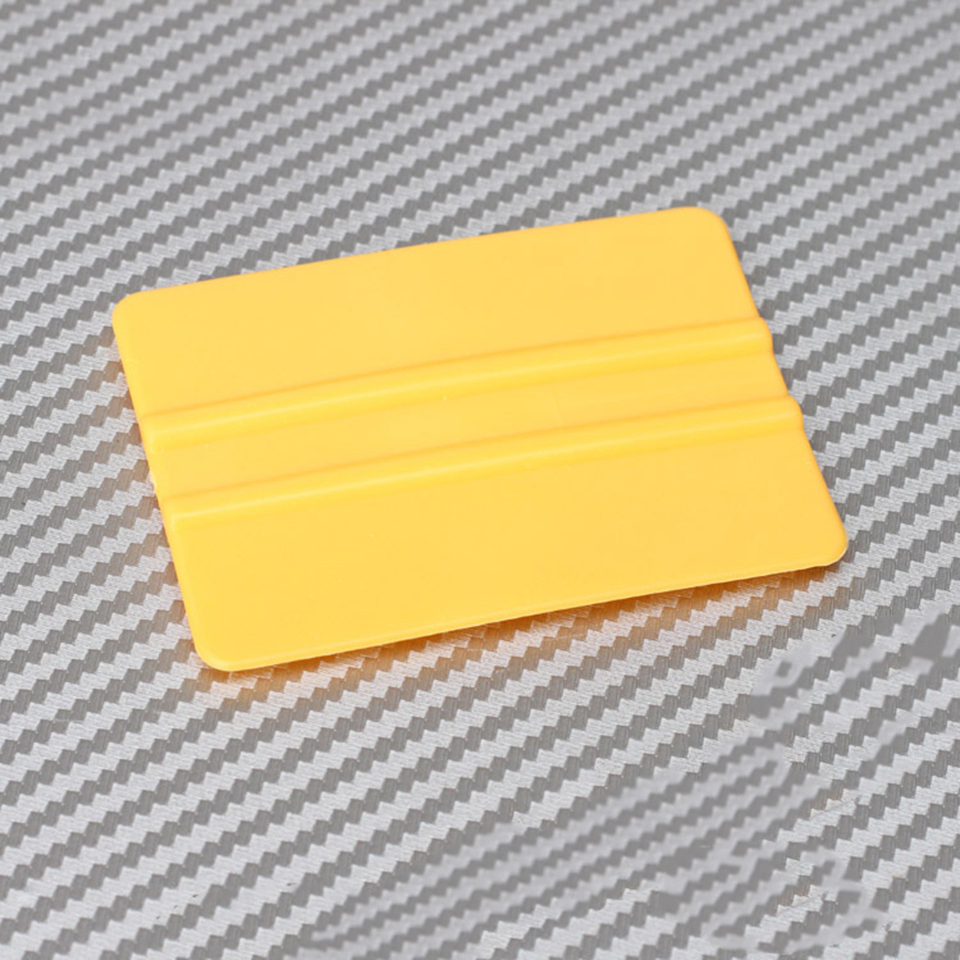 """Image 2 - Mini Squeegee Yellow 3"""" x 2.1"""" Vinyl Car Vehicle Graphic Application Wrap Tool QG 08-in Car Stickers from Automobiles & Motorcycles"""