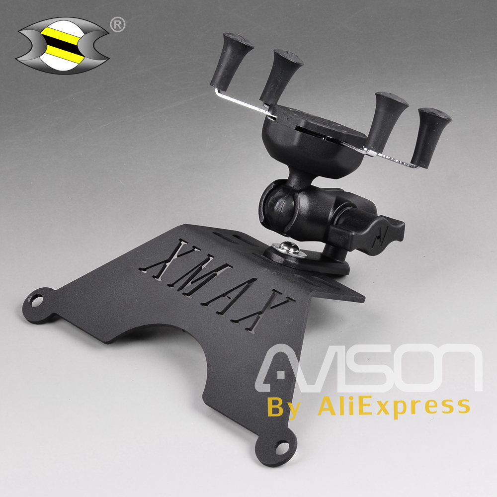 For Yamaha XMAX Phone Holder XMAX250 XMAX300 Stand Holder Smartphone Phone Holder Stand GPS Navigator Plate Bracket motorcycle modified front stand holder smartphone mobile phone bracket gps plate mirror bracket for yamaha xmax x max 250 300