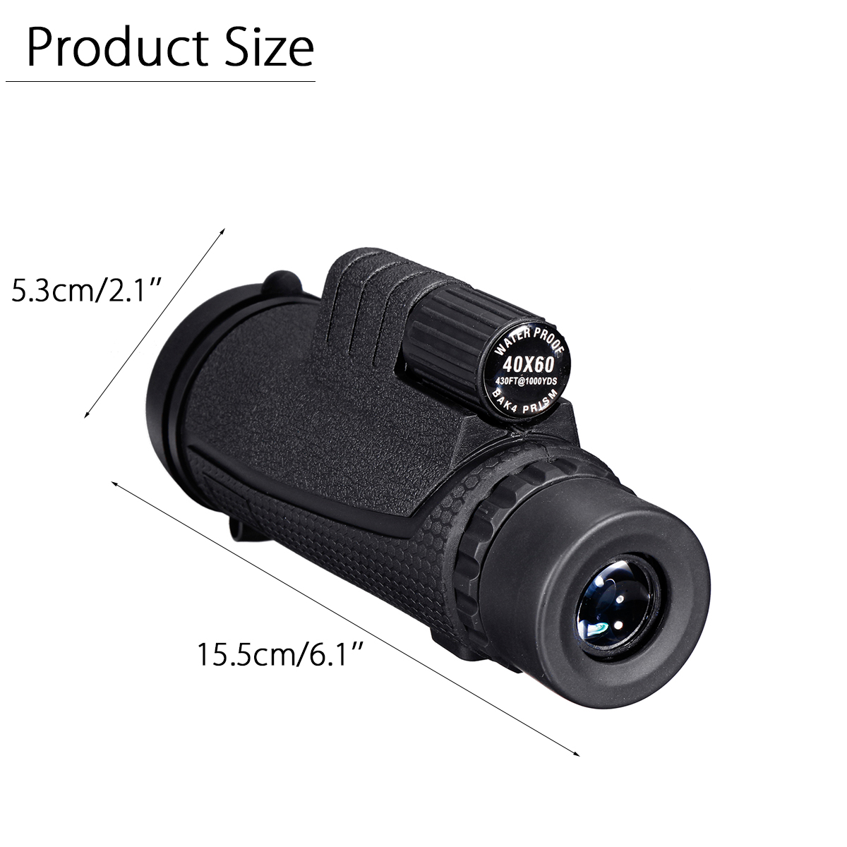 Electronics - 40X60 Zoom Optical HD Lens Monocular Telescope + Clip For Universal Phone HD Night Vision with Phone Clip and Tripod