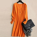 Primavera Outono Mulheres Vestidos de Camisola do Natal Do Inverno Longo Blusas de Malha Grossa Camisola Morna e Burderry Pullovers Jumper
