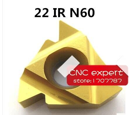 10pcs 22 IR N 60 INTERNAL threaded turning Insert Coating General Type partial profile 60 degree