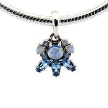 Perlas Adapta Pandora Charms Pulseras de Perlas Para La Joyería Patrones de Heladas Multicolor de Perlas De Cristal Original de Plata 925