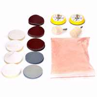 34pcs Glass Polishing Kit Mayitr Windscreen Windows Deep Scratch Remover 8 OZ Cerium Oxide + Sanding Disc + Wool Polishing Pads