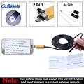 Black/Gold 2 in 1  7mm Lens 6 LED Android USB Waterproof Endoscope Camera Borescope Inspection Camera with 2m Length Cable