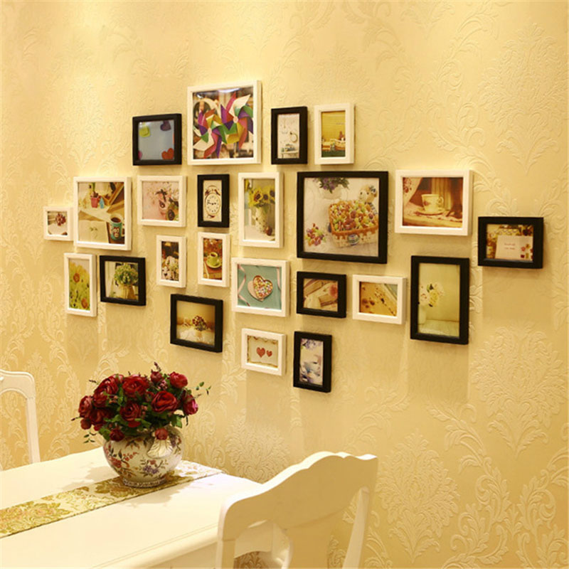 Buy 1x creative wood diy photo frame wall for Best home decor gifts