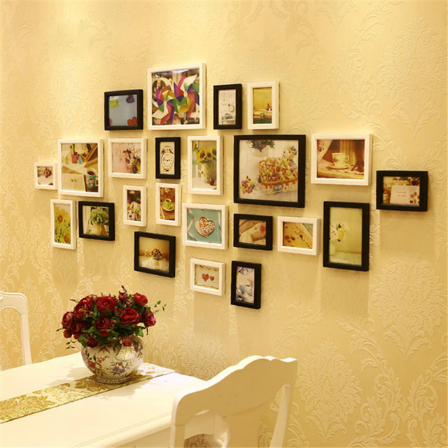 1X Creative Wood Diy Photo Frame Wall Picture Album Best Gifts