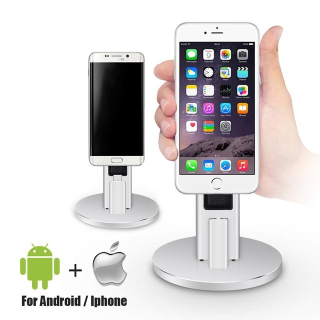 1 pcs universal android para iphone 6 6 s 7 plus para meizu xiaomi note 3 titular doca desktop carregador base de amartphone frete grátis
