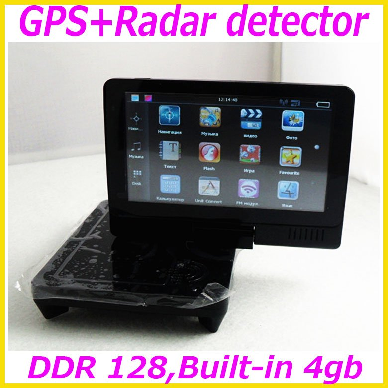 Hottest! - Multi-fonctionr car radar detector with GPS for Russian market,Support Russian Menu and Russian voice&Free shiping!