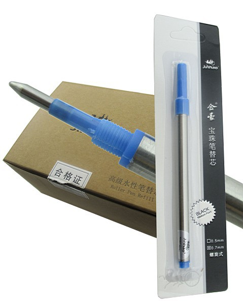 4x 60pcs/carton Screw Rollerball <font><b>Pen</b></font> <font><b>Refill</b></font> M Tip <font><b>0.7</b></font> Blue or 2 Colors(black or blue) to Choose Free Shipping image