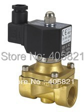 N/O 3/8 Electric Solenoid Valve Water Air,Brass Valve 2W040-10K,AC220V DC12V zndiy bry dc 12v g1 2 n c brass inlet solenoid valve w water proof case for water control