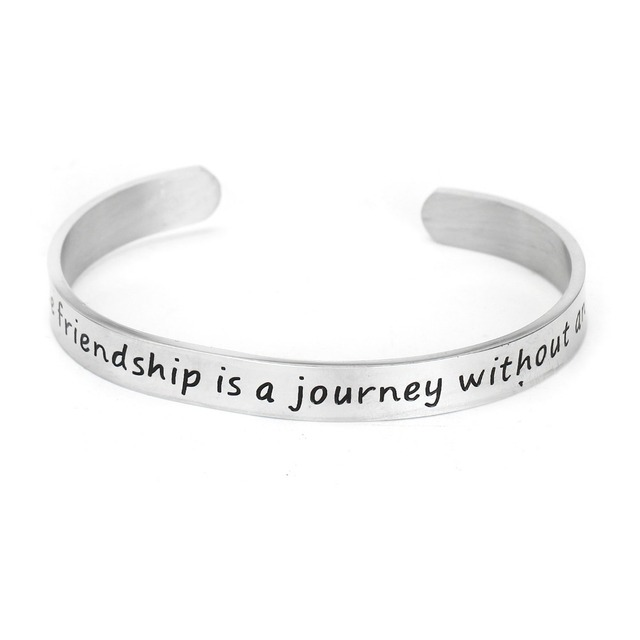 A true friendship is a journey without an end bracelet jewelry uTN6iBF