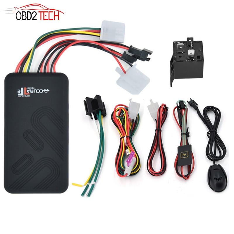 Gt06 mini carro gps tracker sms gsm gprs veículo em linha sistema de rastreamento monitor controle remoto alarme para motocicleta veículo gps