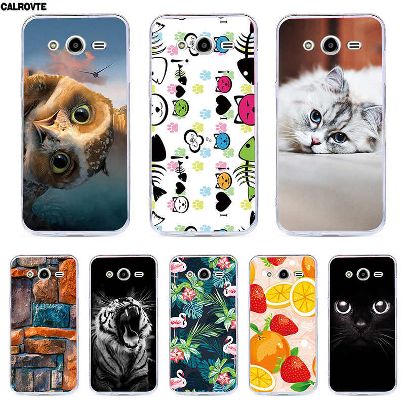 Phone Bags For Samsung Galaxy core2 core 2 SM G355H Case Cover Animal Cat Silicone Cases G355M SM-G355h/ds Duos 4.5""