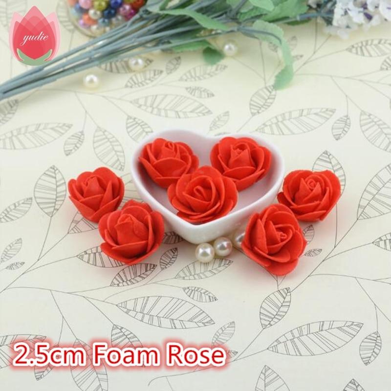 Wedding Car Decoration Diy : Pe foam red rose artificial flowers for wedding car decoration diy