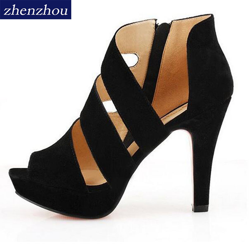 Free shipping 2015 summer night women shoes Fish mouth side zippers with documentary shoes waterproof Taiwan high tide