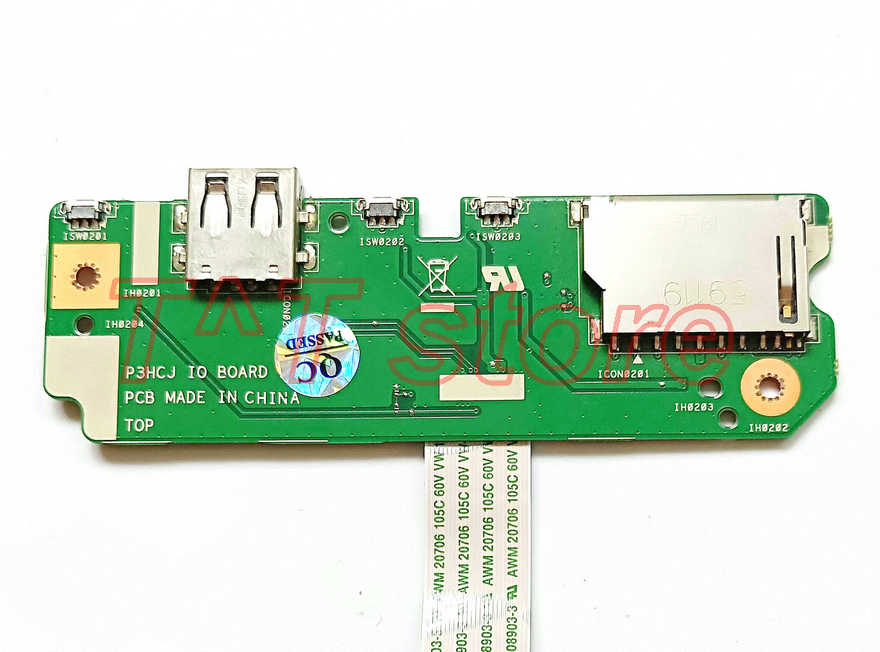 купить free shipping original for R13 R7-372 R7-372T power botton volume control usb SD card reader board P3HCJ IO BOARD test good по цене 4215.85 рублей