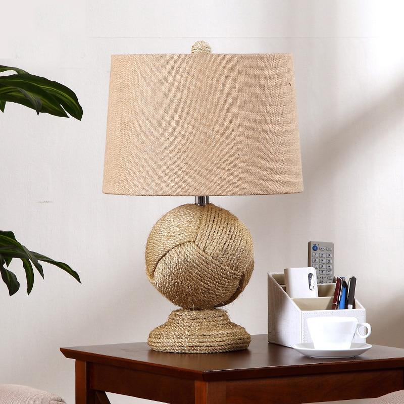 lámpara de mesa de mimbre al por mayor de alta calidad de ...