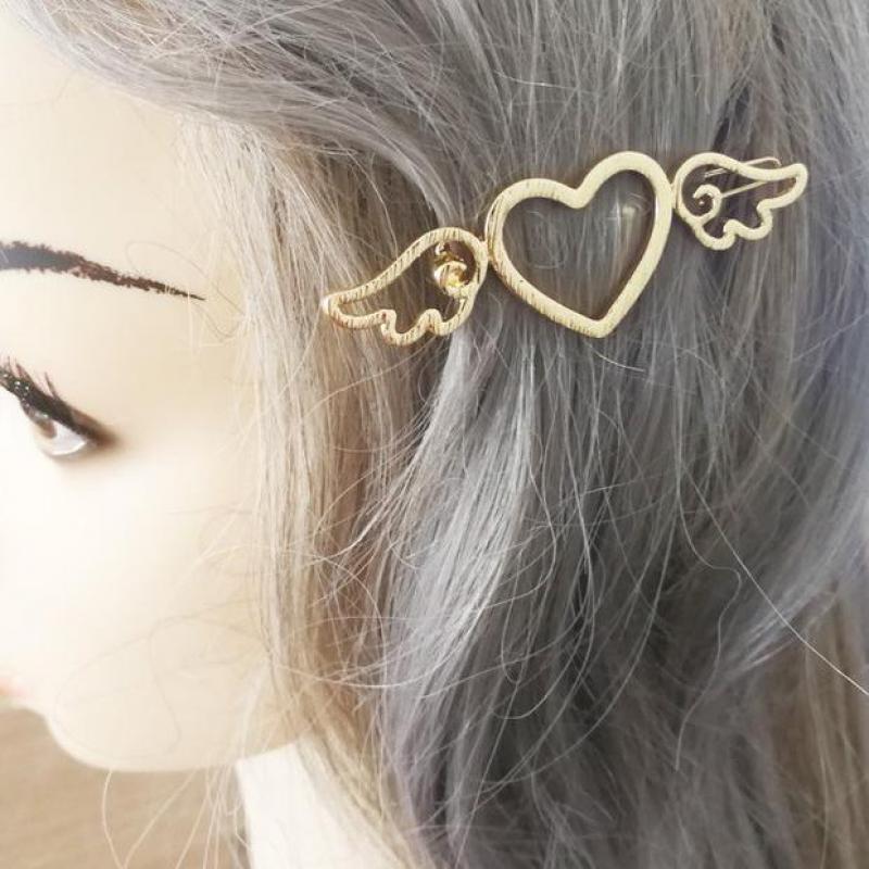 Punk Hair Accessories Temperament Wild Love Cupid Wings Ladies Hairpin Manufacturers Sales Bride Crown