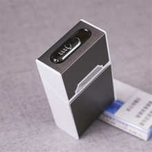 2 in 1 USB Rechargeable Aluminum Alloy  Smoking Flameless Cigarette Lighter Father Boy Friend Gift