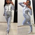 2017 Spring New Women Sportwear Two Pieces Set Letters Printed  Suits For Women Tracksuit Casual Women Suits XXL NQ934917