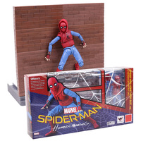 Spider Man Homecoming Spiderman Tamarshii Option Act Wall Home Made Suit Ver PVC Action Figure Toy