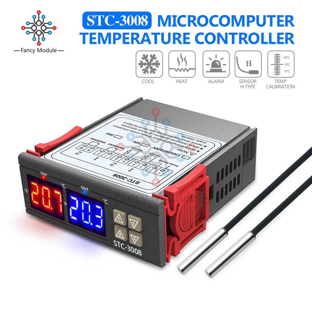 24V Cool Heat Digital Temperature Controller Thermostat Microcomputer Timer